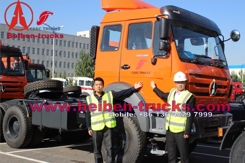 beiben tractor truck for congo customer