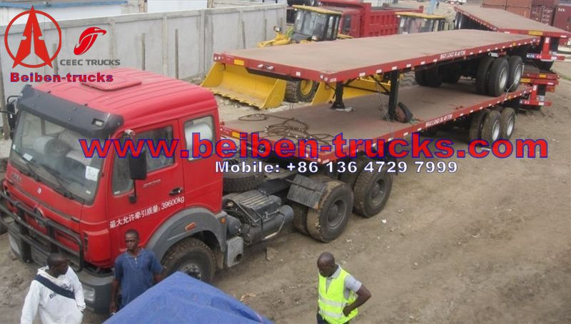 North Benz 6x4 336hp 40t-60t EURO III tractor truck