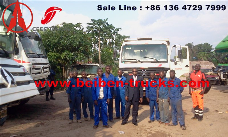 Congo north benz 340 Hp dump trucks manufacturer from china