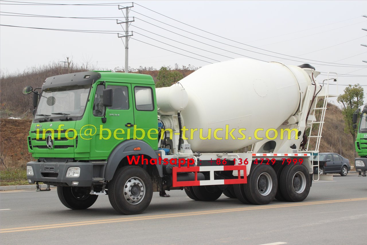 North Benz /Beiben self loading concrete mixer truck