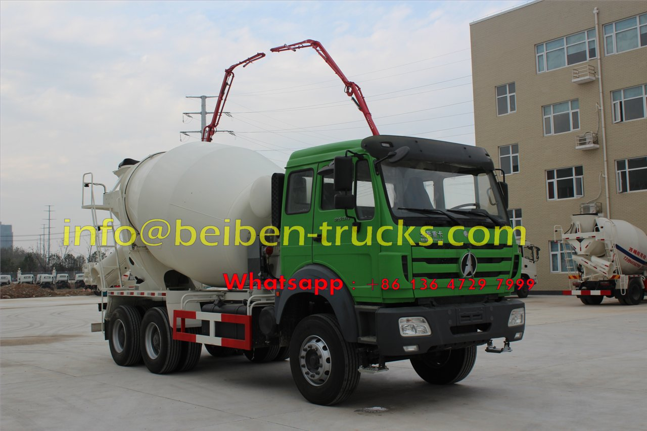 Using Benz technology Beiben 6x4 5m3 concrete mixer truck hydraulic pump Advantages One-stop shop, thousand kinds of products with military quality for you to choose Most competitive and reasonable price, ready to develop together with custome