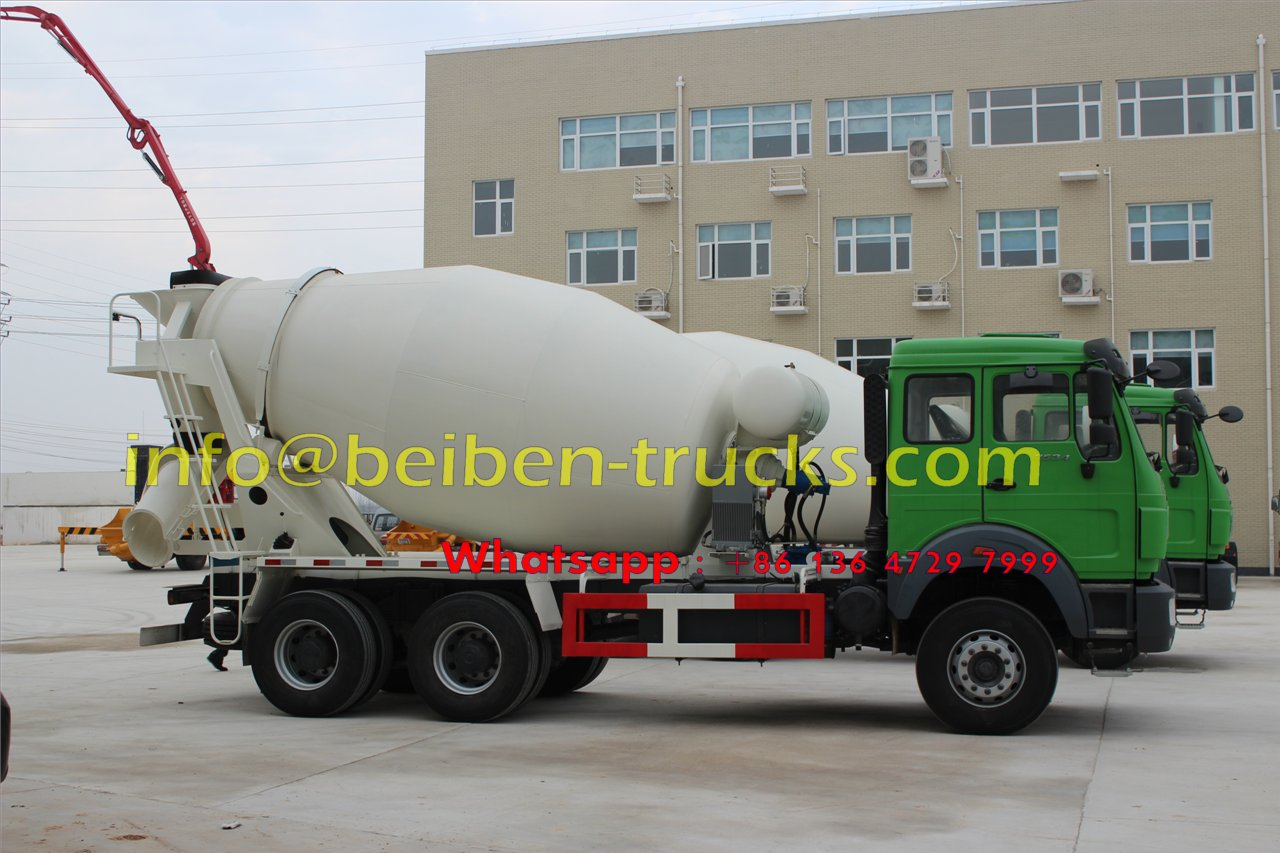 Good condition Beiben 336hp 6X4 concrete truck