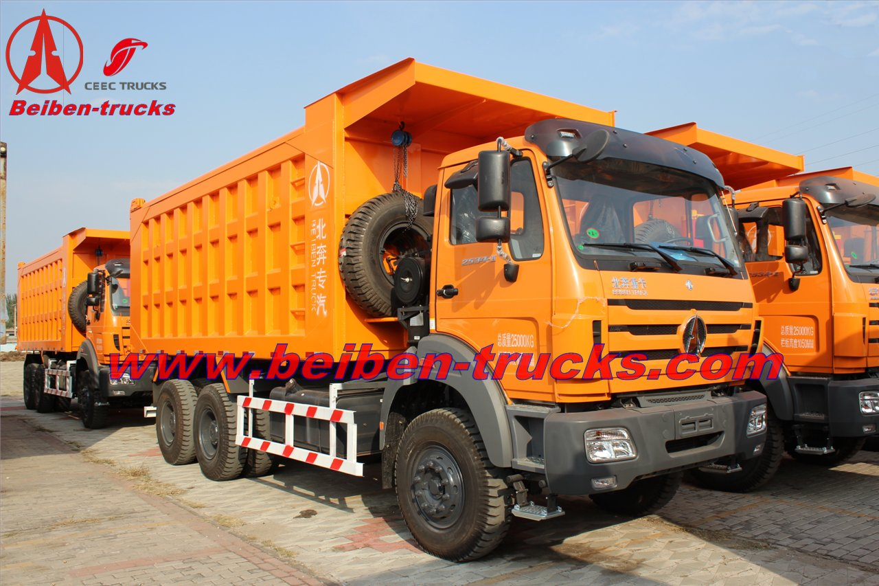 beiben 2638 dump trucks manufacturer in china