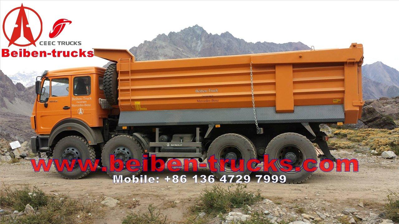 exportateurs de haute qualit beiben 8 x 4 12 roues camion benne basculante 50 tonnes charge. Black Bedroom Furniture Sets. Home Design Ideas
