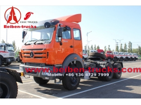 camion-tracteur Chine 340hp Nord Benz Beiben 6 x 4, moteur, camion-remorque