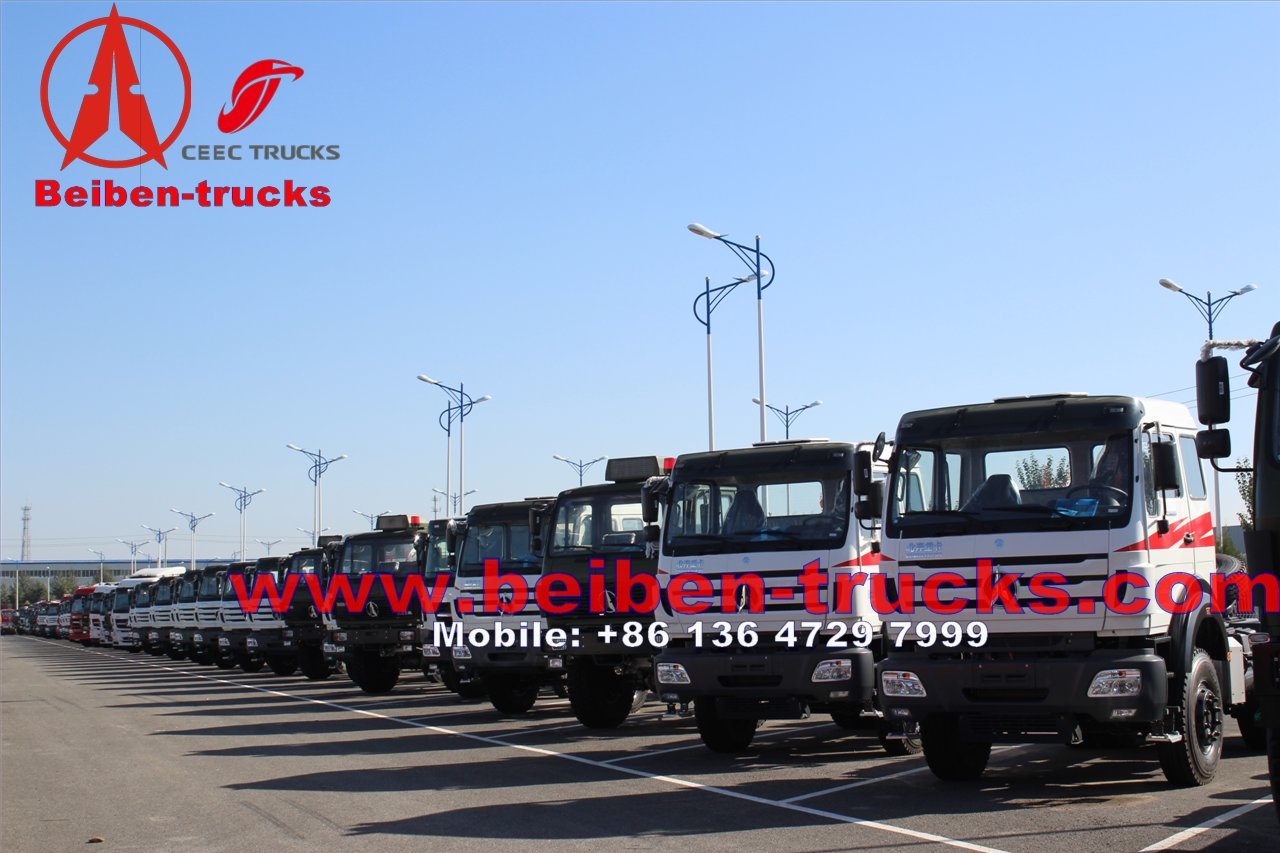 Beiben 6X4 380 hp long cab tractor truck supplier in china
