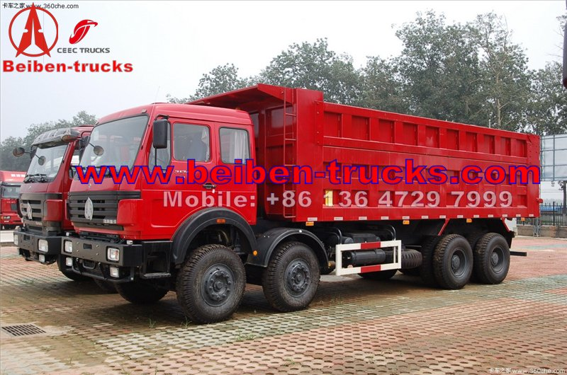 china North Benz BEIBEN Dump Truck 40 ton 50 ton 380hp 8x4 Dump Truck  manufacturer