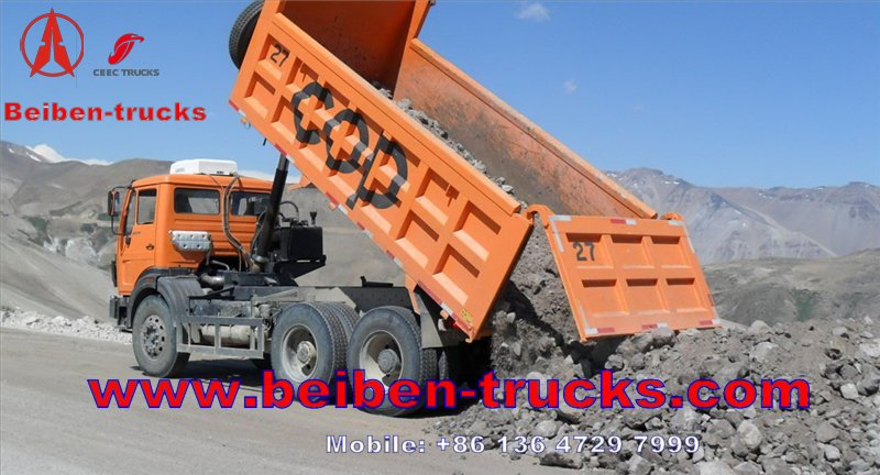 china Beiben dump truck 6*4 340hp tipper truck manufacturer