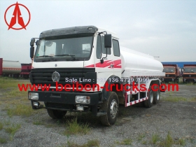 china beiben 6*4 drive water sprinkler trucks