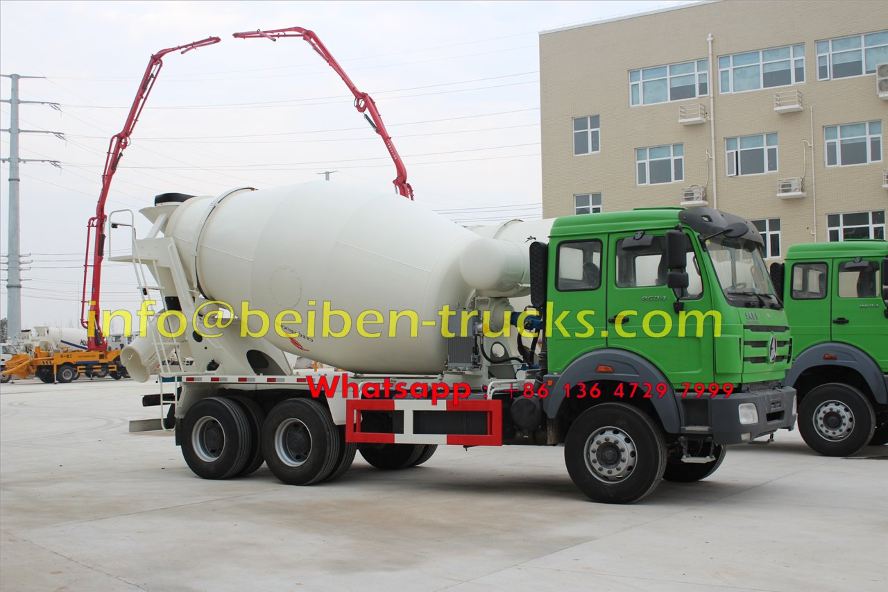Good condition Beiben 336hp 6X4 concrete truck price