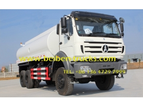 Beiben Off Road 6*6 Water Bowser Truck Water Tanker Truck 20Cbm  for africa