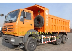 north benz 6*6 drive dump truck supplier