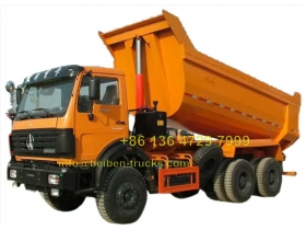 china north benz hardox 50 T dumper manufacturer
