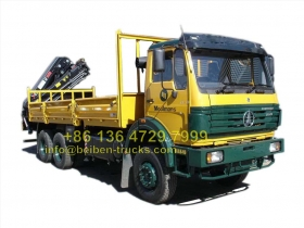 china Beiben 16 T knuckle boom crane truck  manufacturer