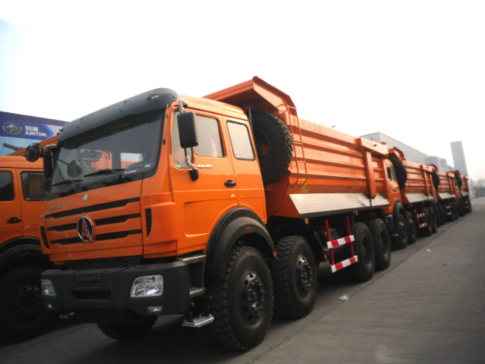 20 units beiben 8*4 drive mine cargo box dump trucks export to mogolia