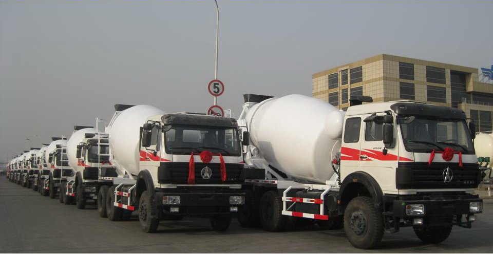Indonesia customer purchase 18 units beiben concrete mixer trucks