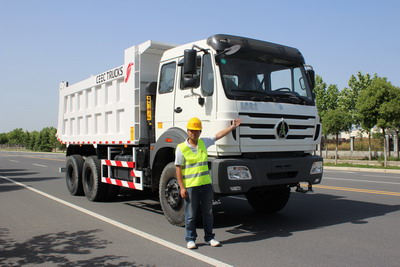 Bureau veritas send people to inspect our beiben 2534 dump truck for congo country