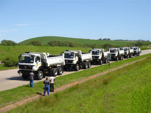 6 units power star 40 T dump trucks export to south africa customer