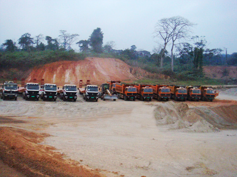 Congo , Pointe Noire customer purchase 18 units beiben dump trucks
