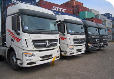 13 units beiben V3 tractor trucks are used by tanzania customer in seaport logistic